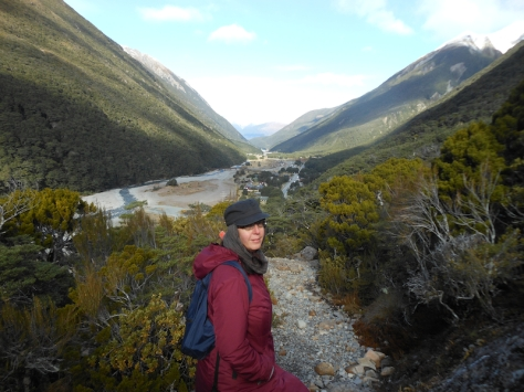 Looking down on the village of Arthurs Pass.